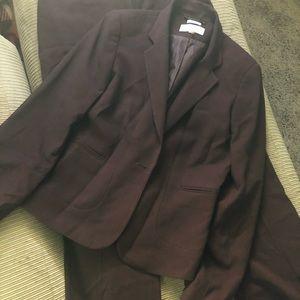 Calvin Klein burgundy suit pants and blazer